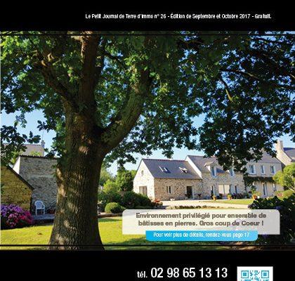 « Le petit journal Terre d'Immo » N°26 – Edition de Septembre & Octobre 2017.
