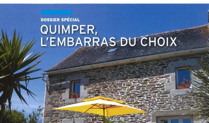 Article dans le Magazine Logic-Immo de Juin et Juillet 2013. Spécial Quimper. Interview de Christophe GUEGUEN