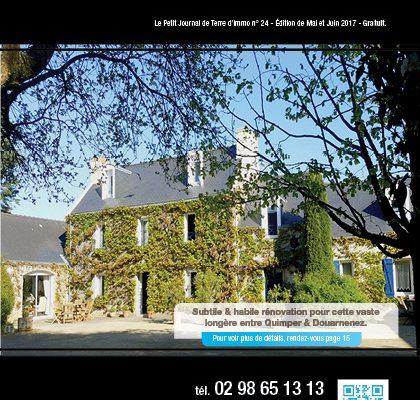 « Le petit journal Terre d'Immo » N°24 – Edition de Mai & Juin 2017.