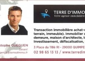 Christophe GUEGUEN Dirigeant de l'Agence TERRE D'IMMO, Membre du BNI Quimper Cornouaille (BUSINESS NETWORK INTERNATIONAL)